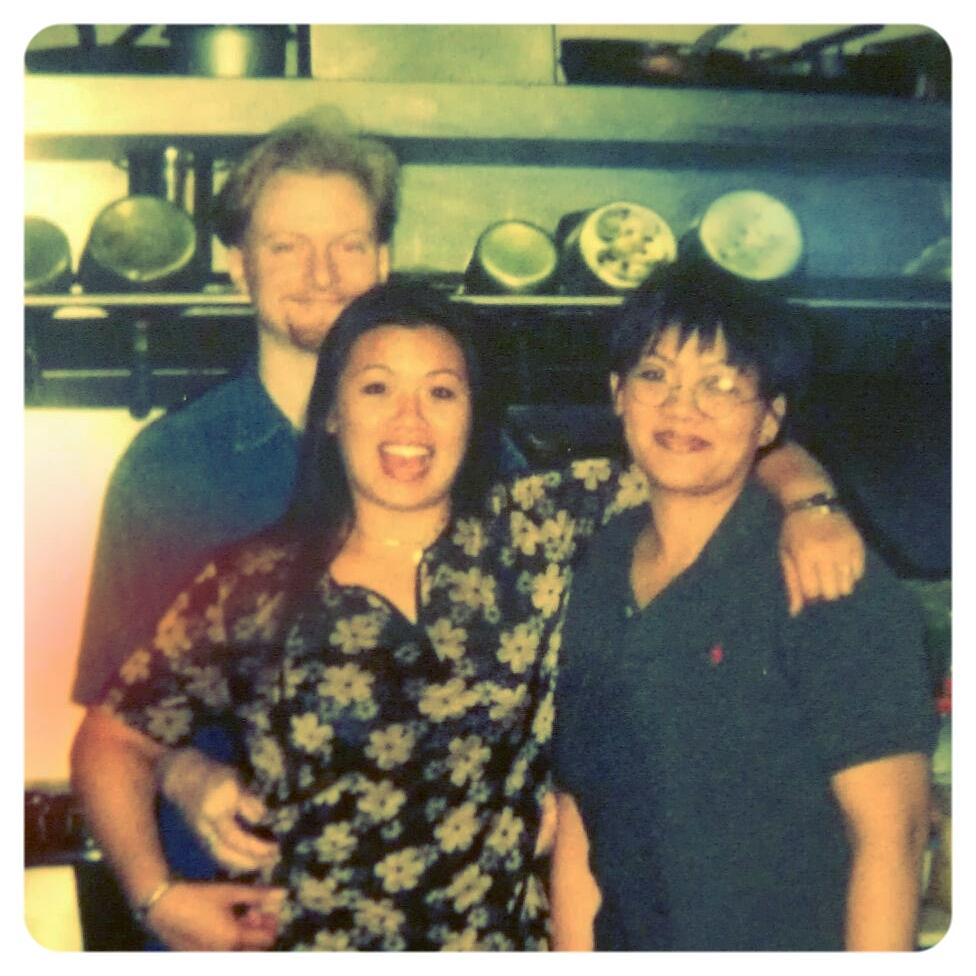 Rathana, her husband Richard and her mom, Kuy, in 1998.