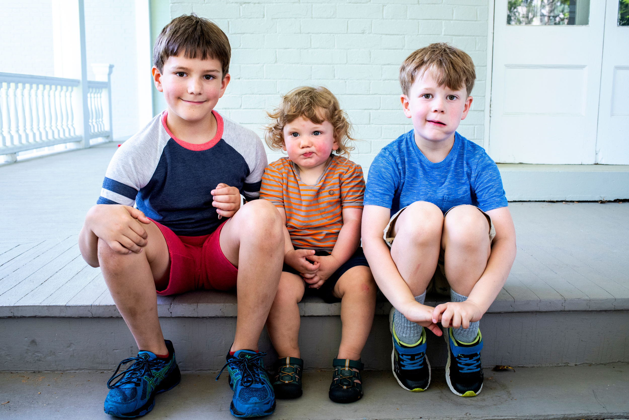 Brotherly love - From backyard basketball to homemade brownies, this sweet family made the most of every moment on a sunny spring morning at their beautiful and bright home in lower Westchester. See their story.