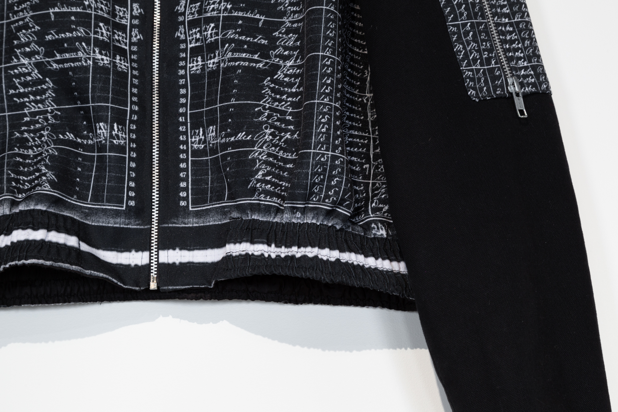 The Census Print Bomber Jacket (detail)