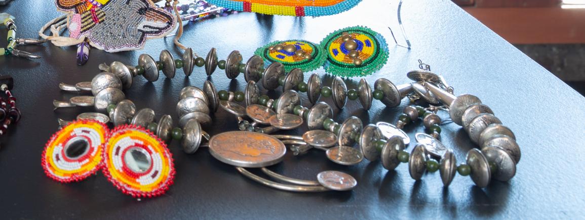 Mercury Dime Squash Blossom Necklace & Earrings