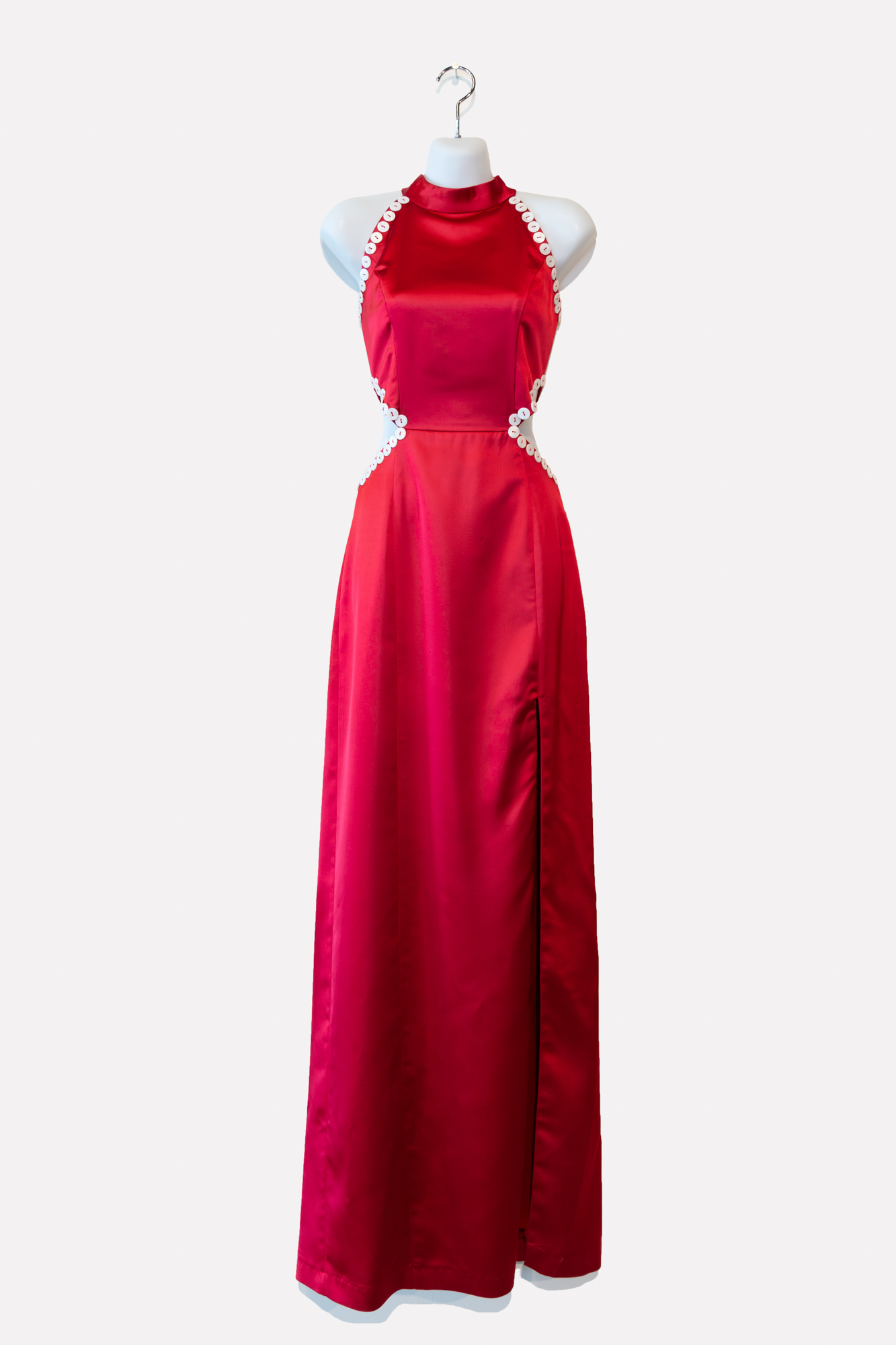 Satin Red Gown