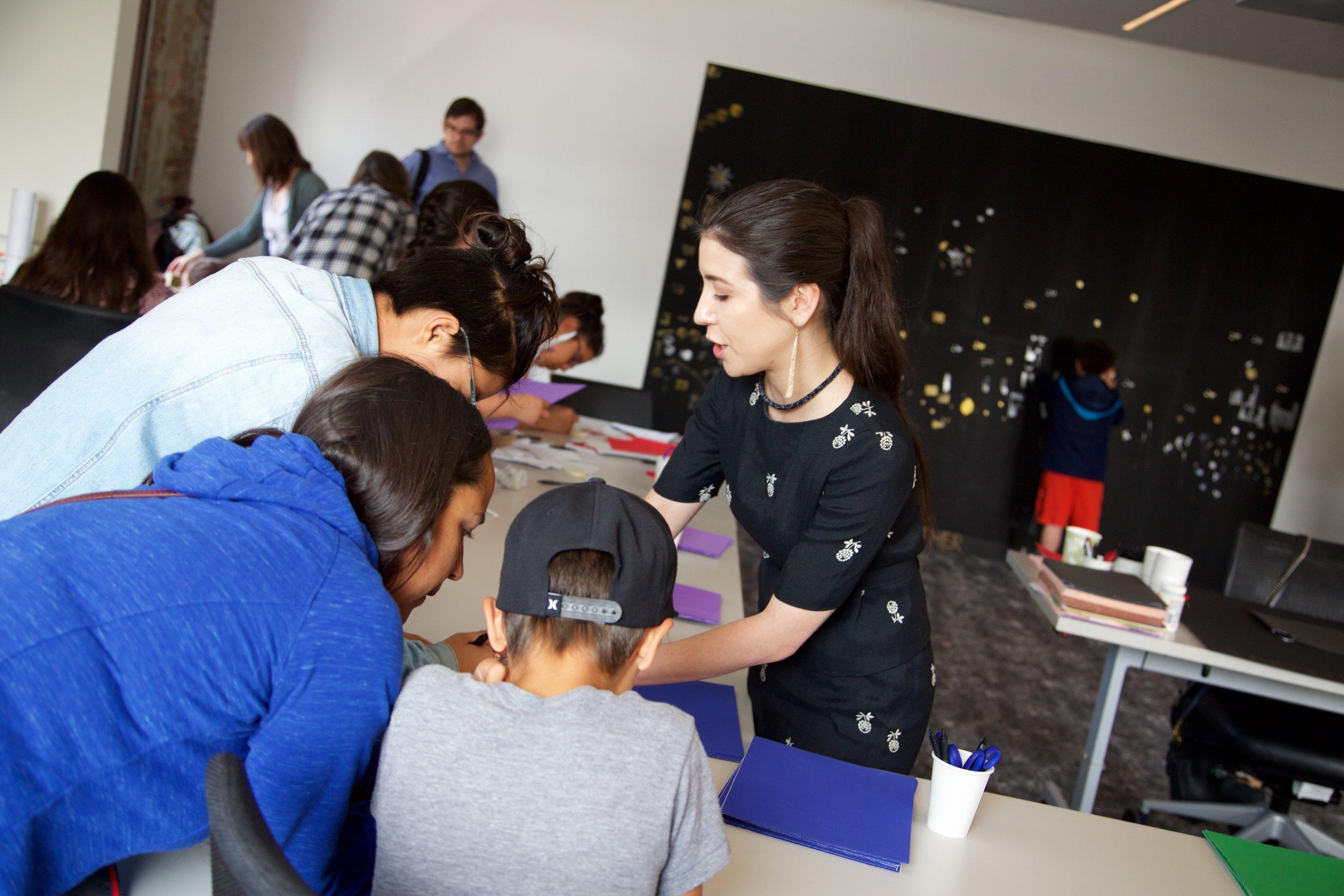 yəhaw̓ Family Event - Creating Our Sky (activity documentation)