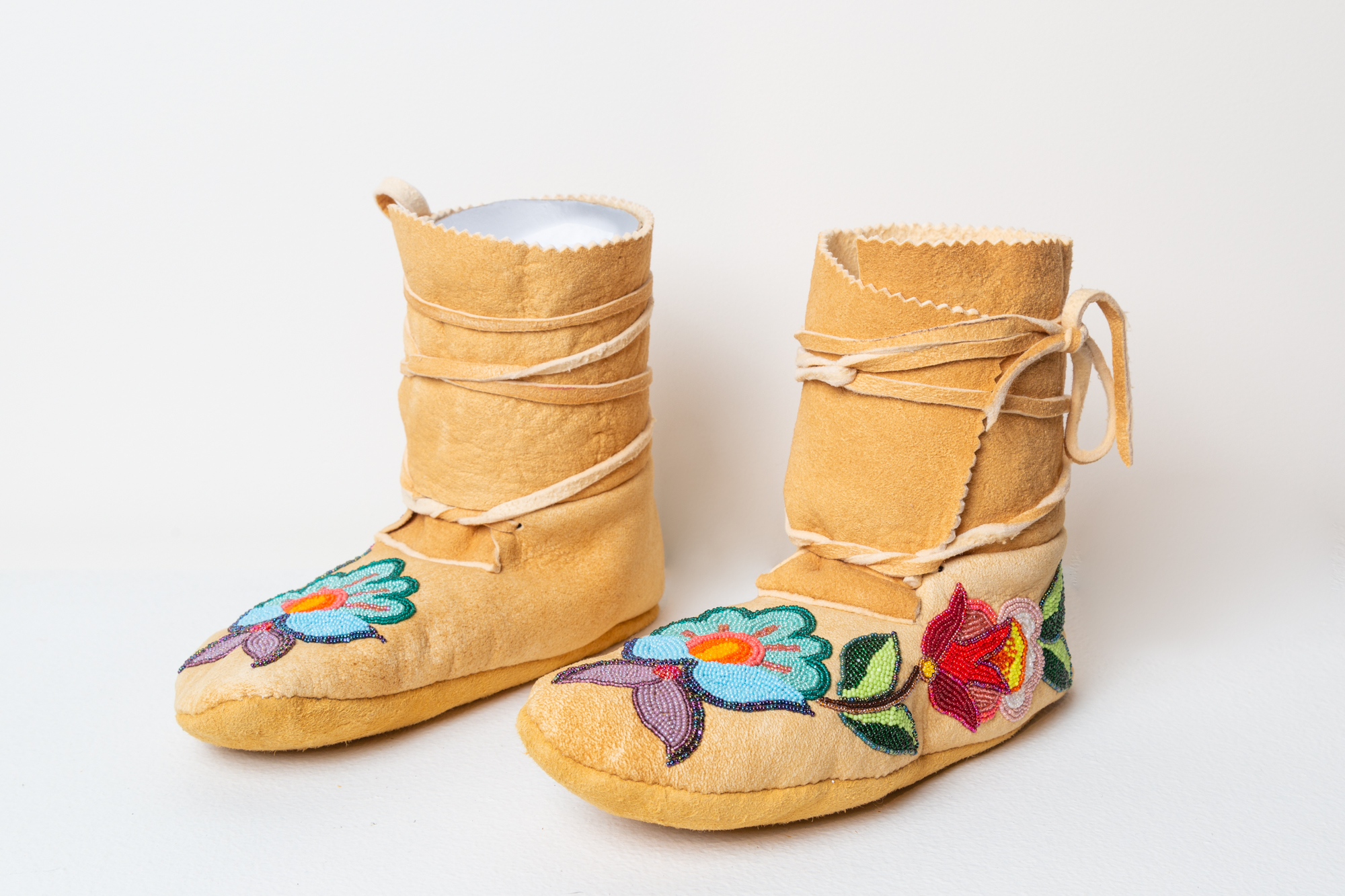 High Top Tanned Moccasins