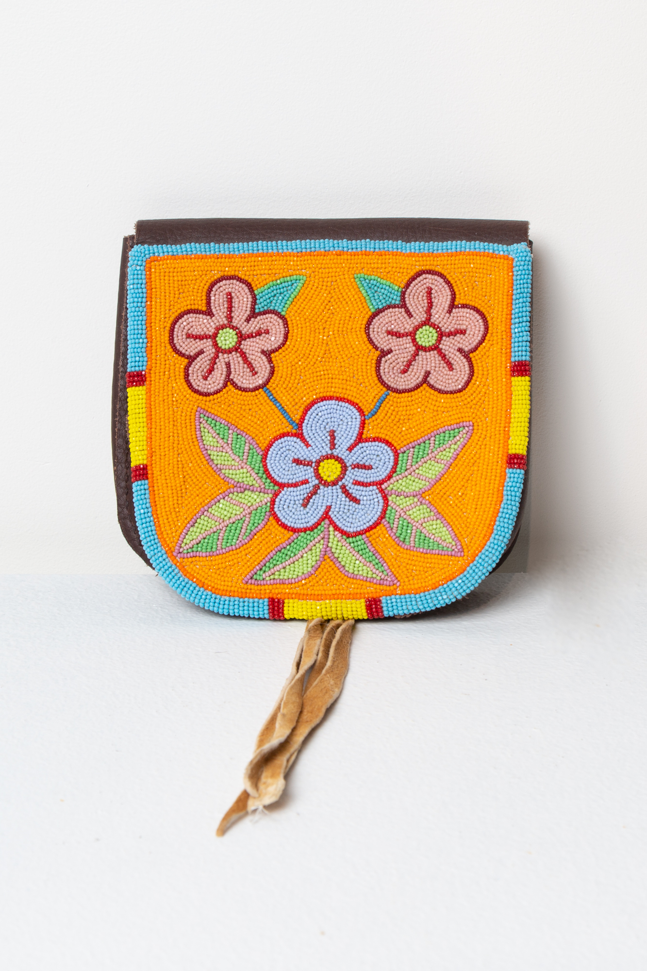 Small Beaded Bag (Floral Pattern)