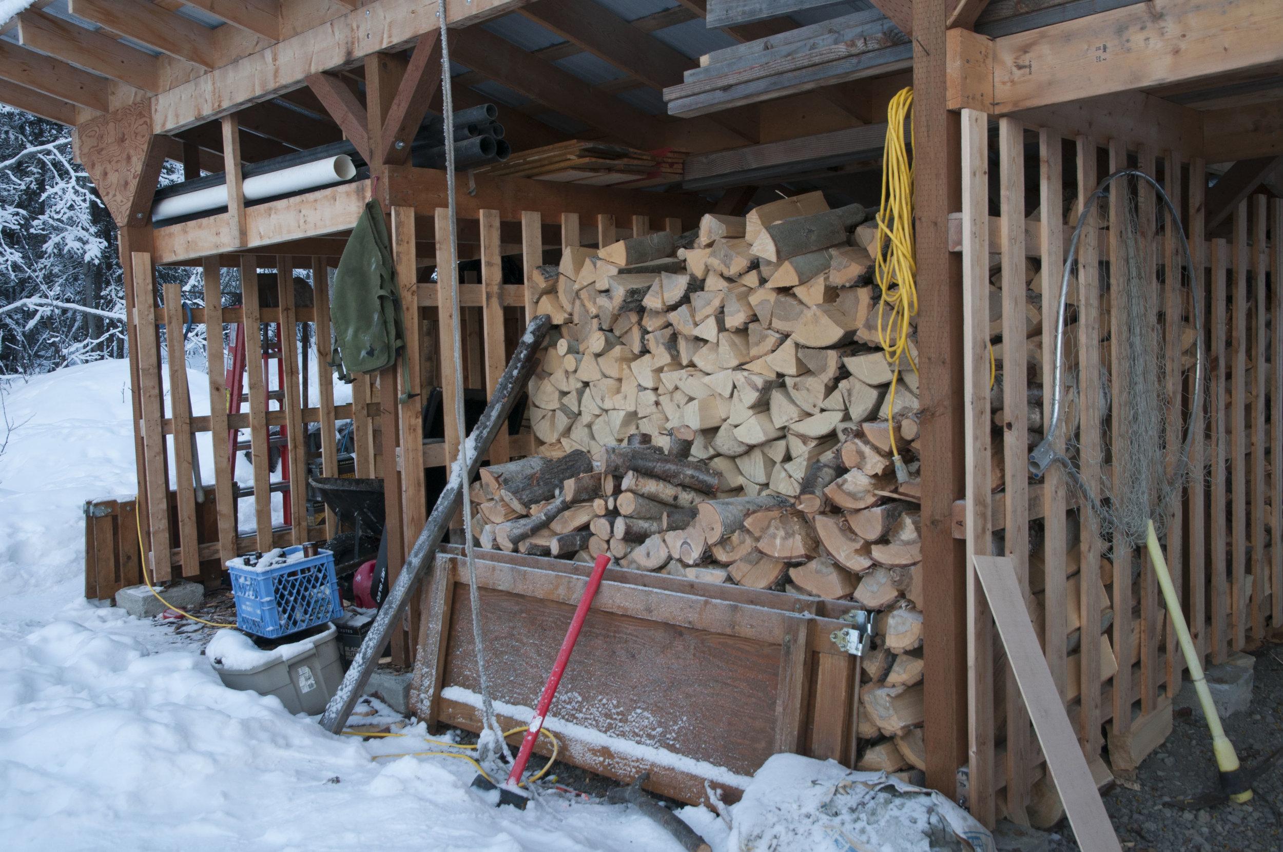 Greg Fensterman's wood shed