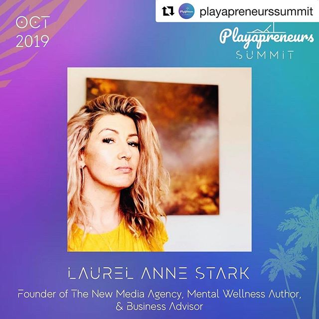 "#Repost @playapreneurssummit ・・・ #SPEAKERANNOUNCEMENT 🎤 🔥🙌 @playapreneurssummit is extremely proud to welcome @laurelannestark as a speaker at #panelnight 3 of the summit on Tuesday October 15th entitled ""Mental Wellness for Entrepreneurs: A real talk on coping with failure, impostor syndrome, & other unsexy sides of running your own business."" Laurel has been an entrepreneur since 2003 that's been featured on CNN & Entrepreneur.com.  She's the founder of The New Media Group Online Marketing Agency, A business advisor, and is releasing a book in 2020 about entrepreneurial mental wellness entitled ""Sexy, Self Employed & Suicidal: The Secret Lives of Entrepreneurial Woman"" which weaves her powerful first hand experience of navigating her life as a founder struggling with alcohol, to maintaining long term recovery and being a successful business owner.  Follow @laurelannestark to learn more about her work, and sign up for your FREE ticket to join us this October at www.playapreneurssummit.com! . . #entrepreneur #founder #mentalhealth #mentalwellness #femalefounder #book #digitalnomad #digitalnomads #mexico #playadelcarmen #latinamerica #beach  #panels #remotework #longtermrecovery #failure #imposturesyndrome #anxiety #digitalnomad #entrepreneursinrecovery #thisiswhatrecoverylookslike #mentalhealthawareness"