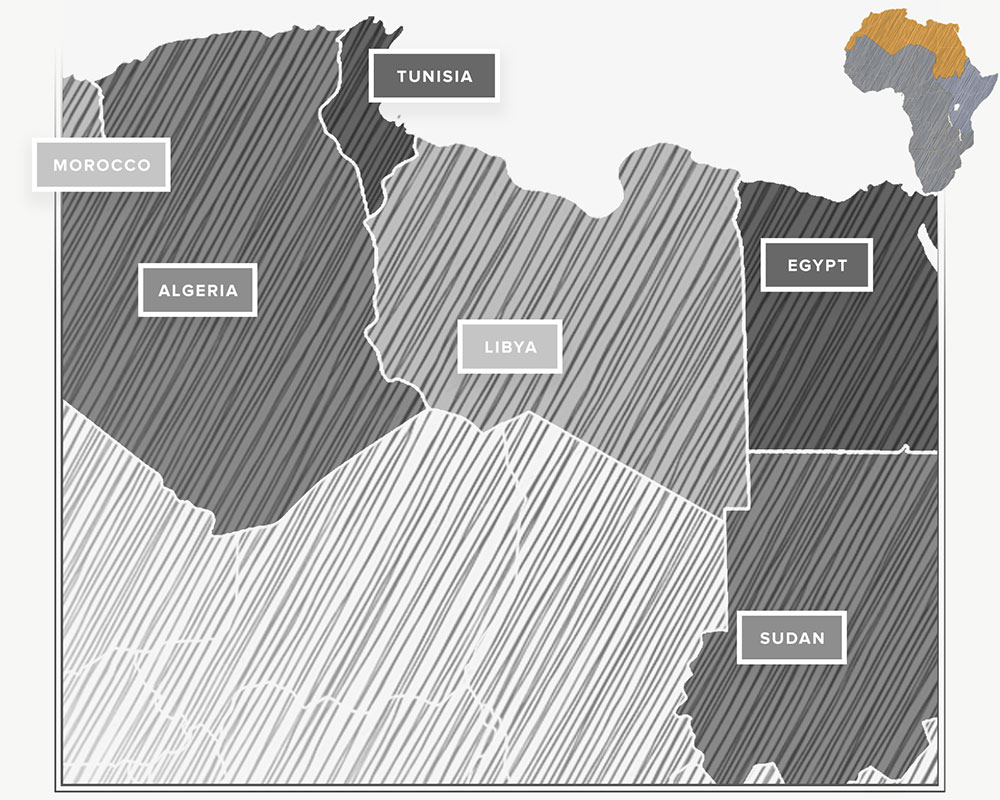 Click to see the countries of Northern Africa