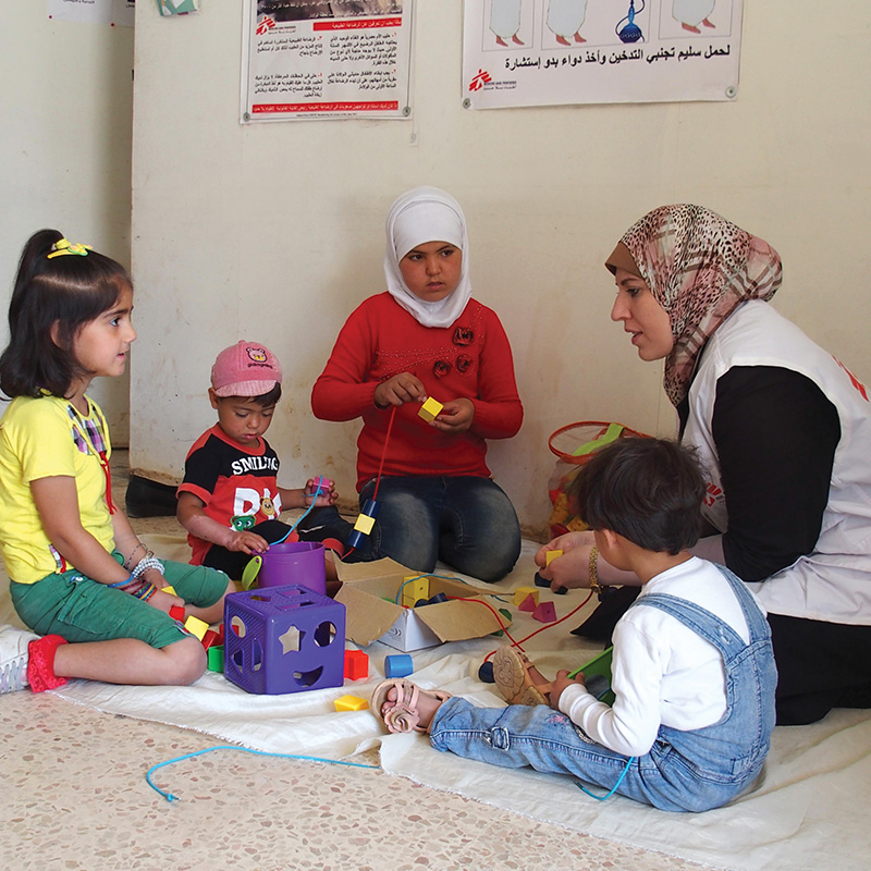 Syria Crisis Drawdown Fund - This initiative supports responses in education and healthcare services for children impacted by displacement.