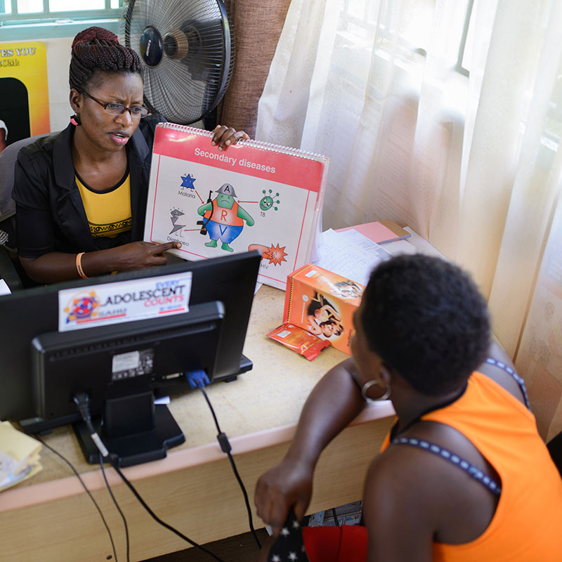 These investments aim to ensure that children and adolescents with HIV are identified, treated early, and maintained on treatment     Learn about this Focus Area >