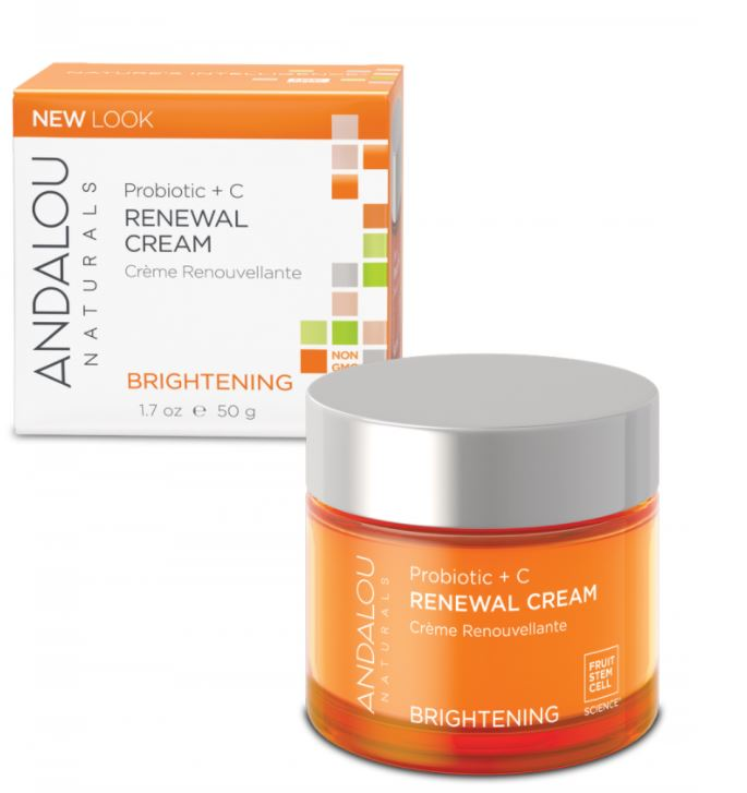 face moisturizer andalou naturals probiotic + c renewal cream