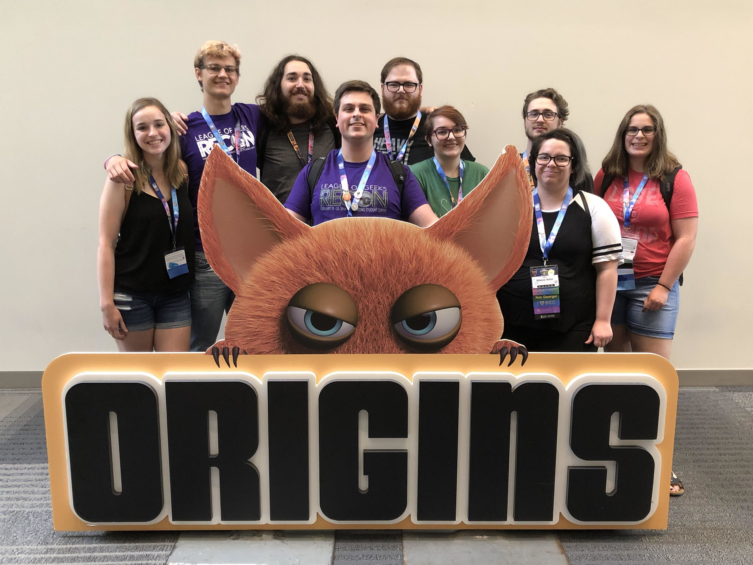 Past, present, and future of the League of Geeks unites at Origins 2019.