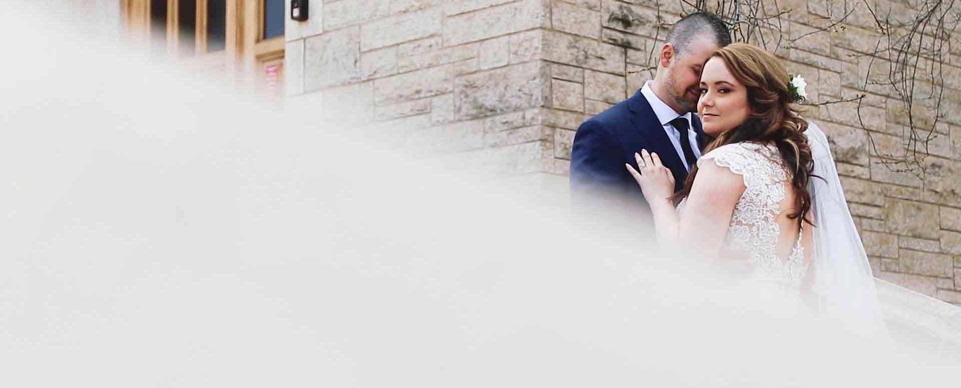 wedding at St. Joseph's Basilica in Edmonton, Alberta