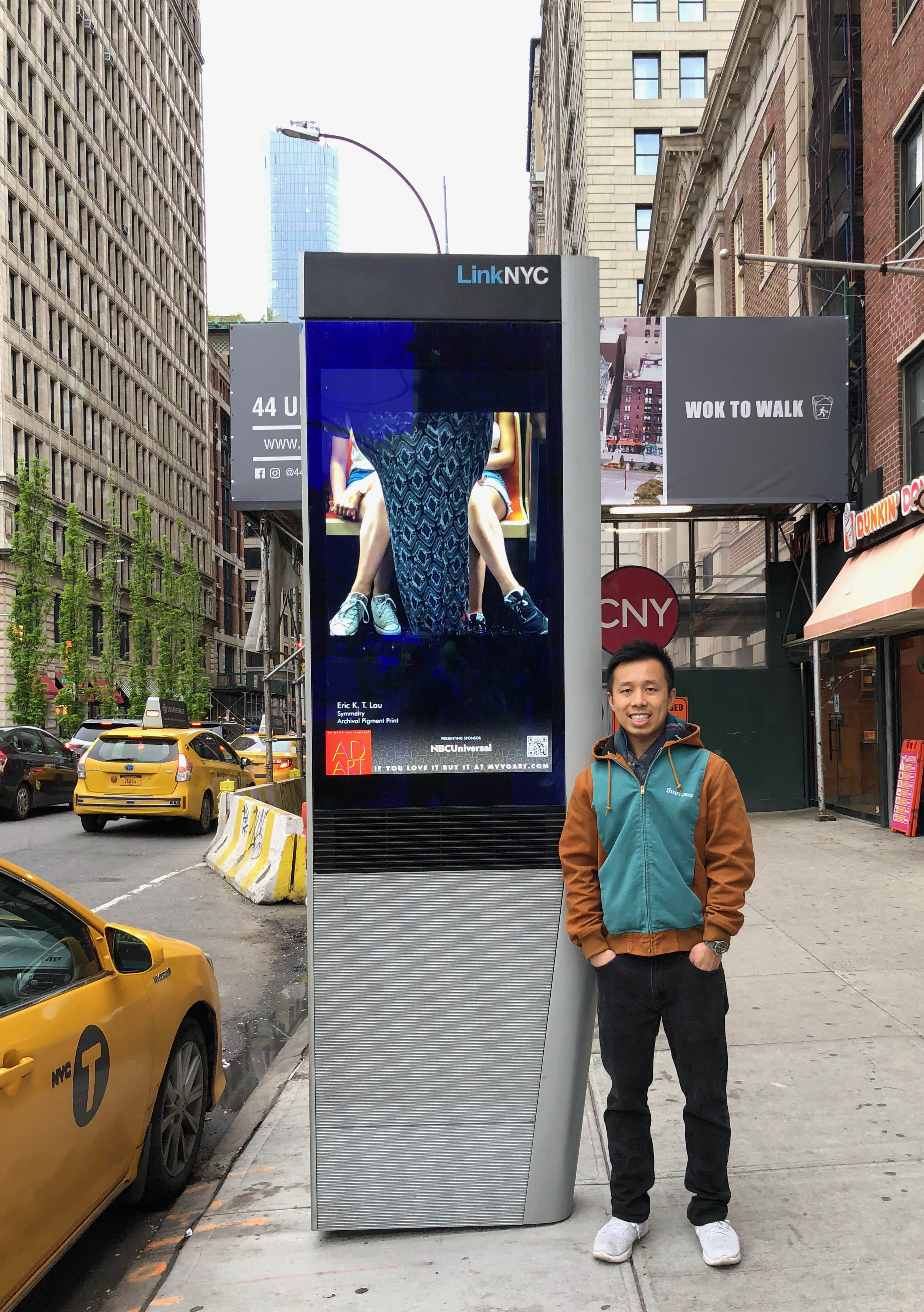 LinkNYC Solo Display in Union Square Ad Art Show 2019