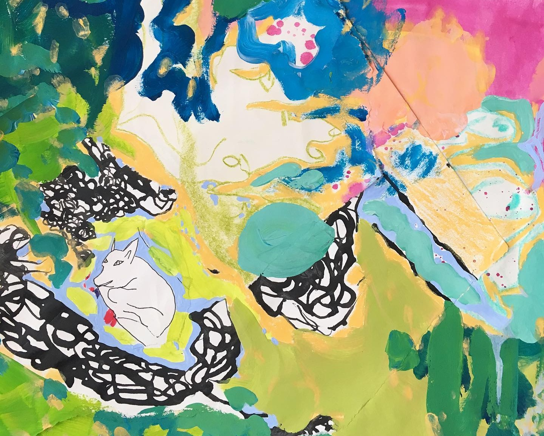 """Mini ha ha"" (detail), collaborative artwork by Rose Wintergreen and Riley Theodore, 2019"