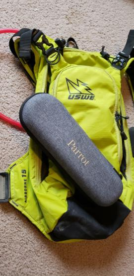 Even in it's carry case, the Anafi Parrot fits easily in my USWE Airborne 15 pack.