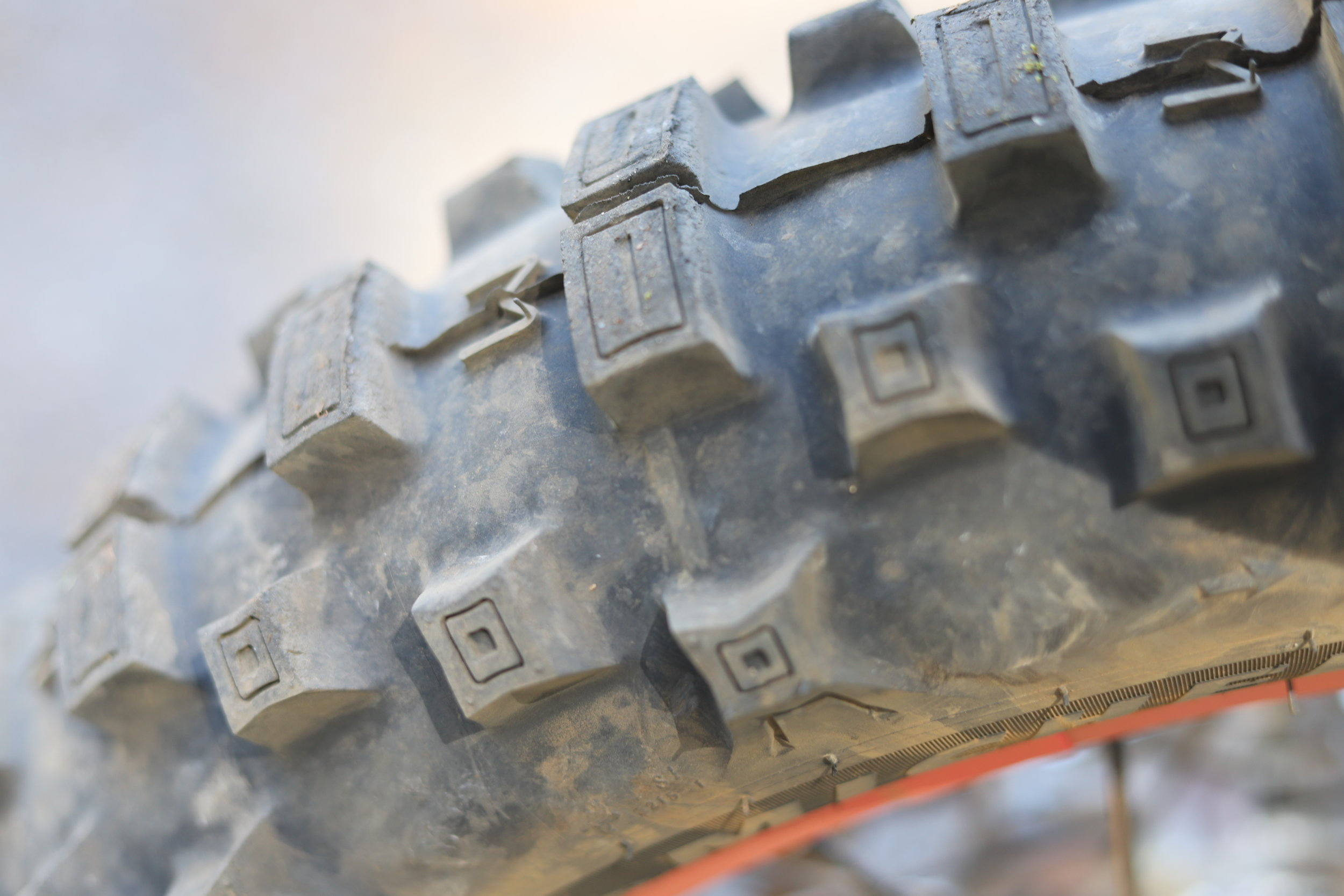 Michelin Enduro tires come stock and held up much better than expected in the first 100 miles.