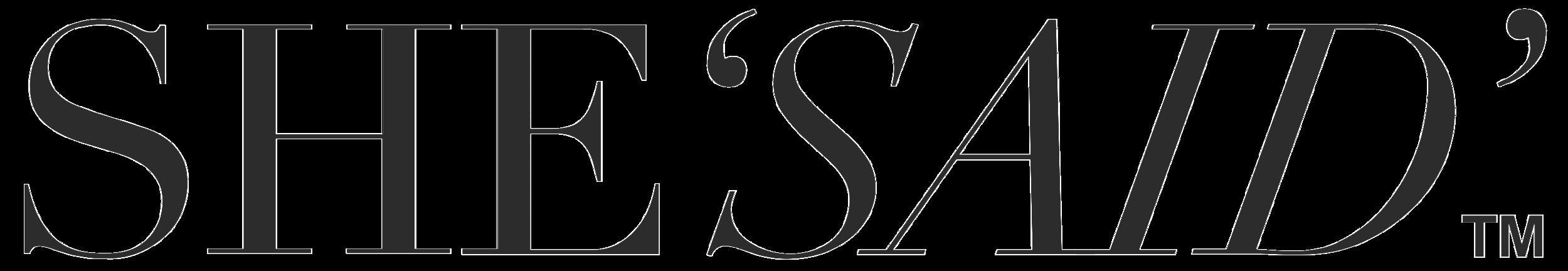 She'Said' logo