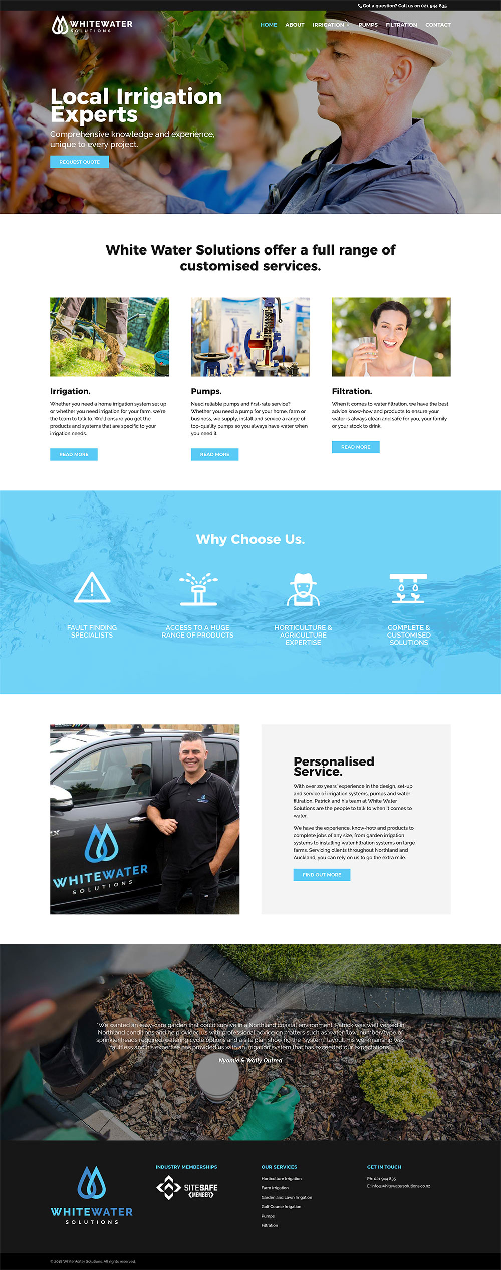 WHITE WATER SOLUTIONS  | WEBSITE DESIGN & BUILD