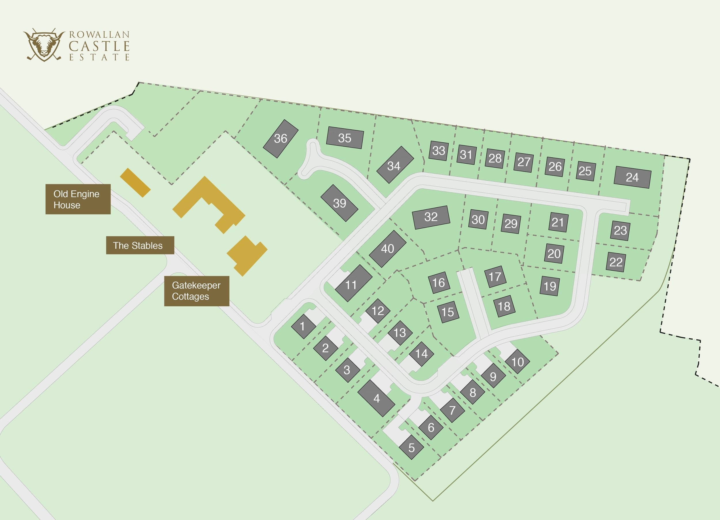The 40 plots available on Stable Field. A further 26 plots are available on Castle Field to be released in 2019.