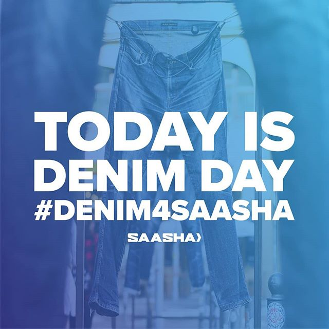 WEAR DENIM, START THE CONVERSATION, & WIN A FREE SAASHA SHIRT: post a picture of you in denim and use the tags #denim4saasha & @saasha_uw to enter the contest.