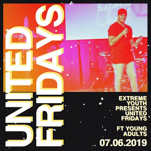 It's here! Tonight we have our 2nd United Friday for the year featuring the young adults. We have pizza & a awesome night planned for you guys. 7pm @ church. Don't want to miss out #bettertogether #betterunited