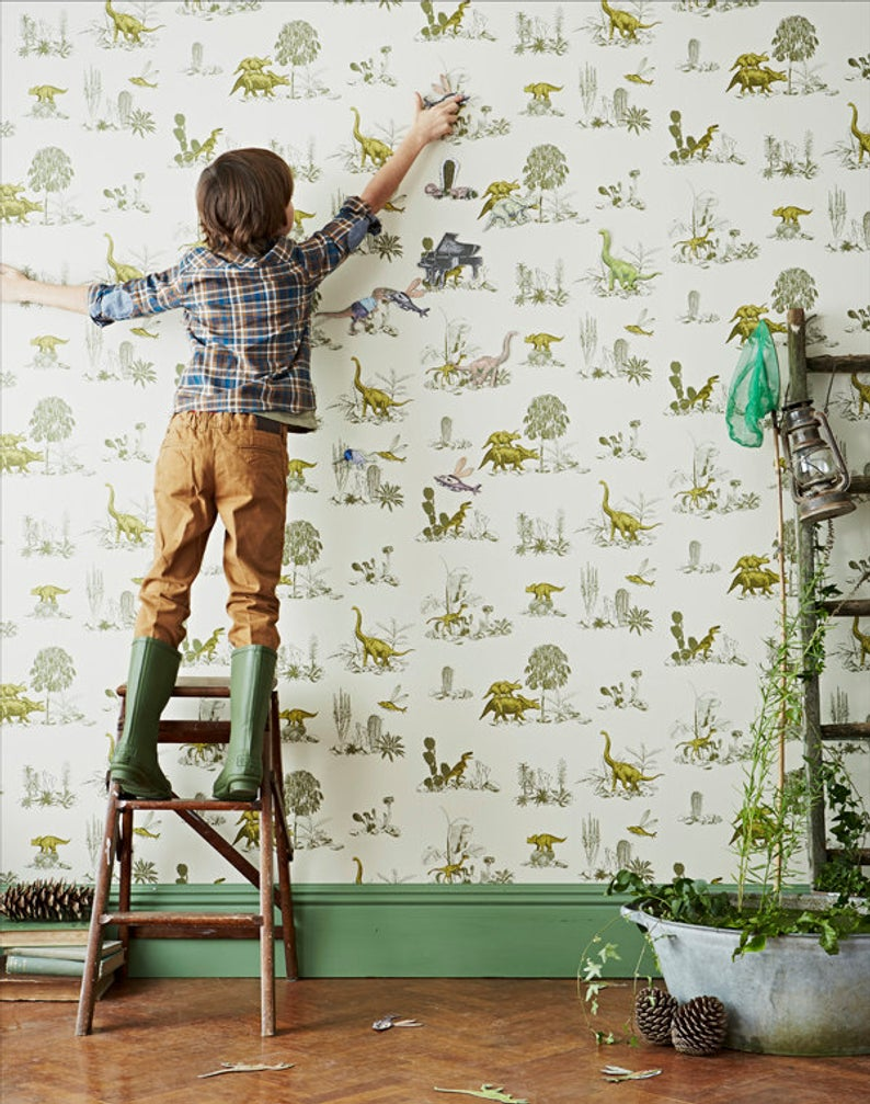 Extremely cute hand-painted magnetic wallpaper by SianZing