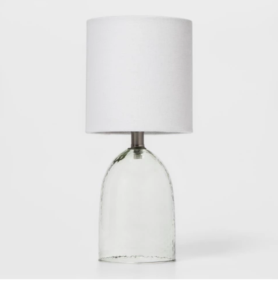 Modern & Stylish - Love the industrial look with the glass in this lamp! Priced at $9.99