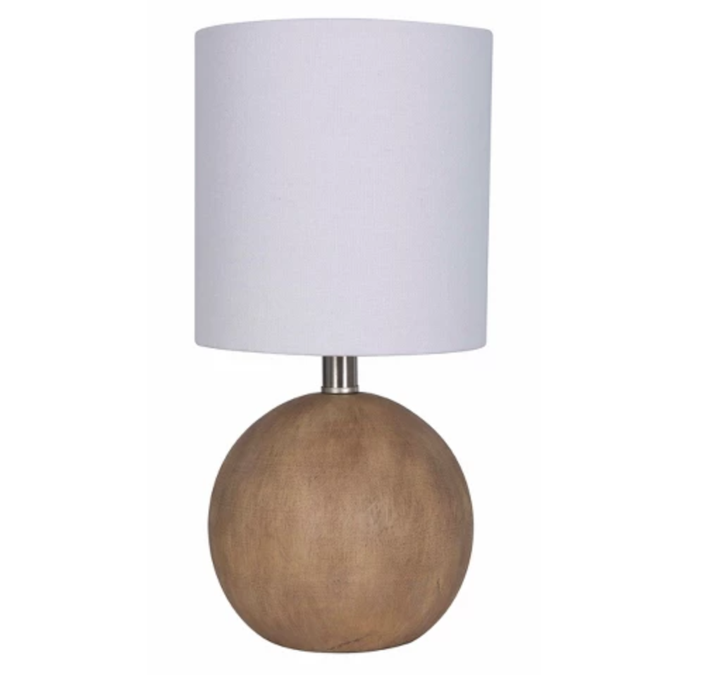 Warm & Abstract - Love the wood texture and feel of this lamp. Priced at $9.99