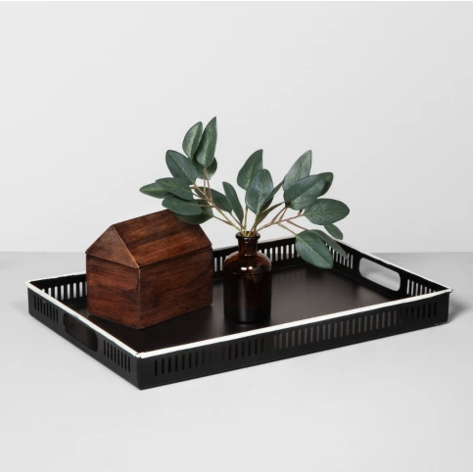 Wooden Home Accent - Love the warmth this wooden home piece adds to tray or shelf styling.
