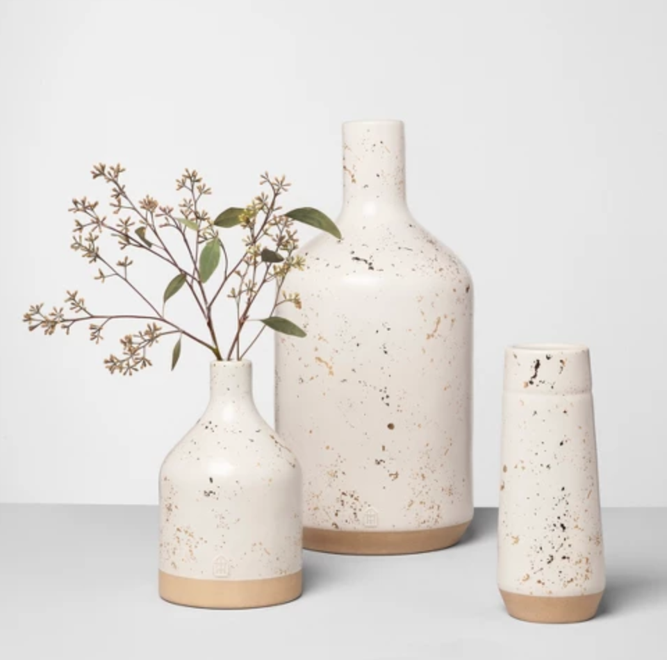 Speckled Vases - I've been eyeing these since they first came out! Love it for neutral styling and it's 50% off now.