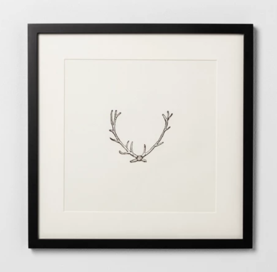 Antler Print - Another framed print that is perfect for all year round. The simplicity gets me.