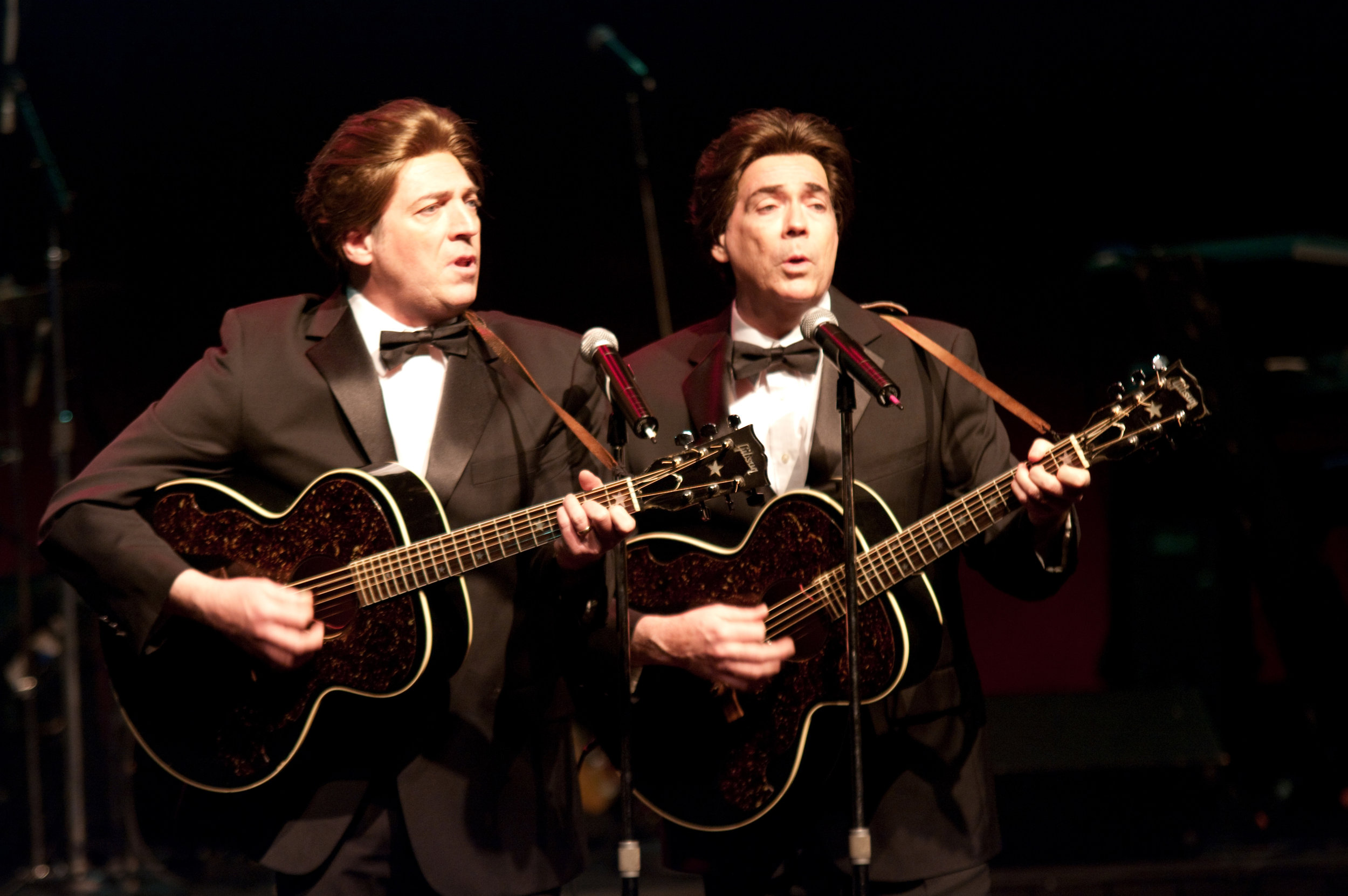 Brian and Tim Mahoney as The Everly Brothers
