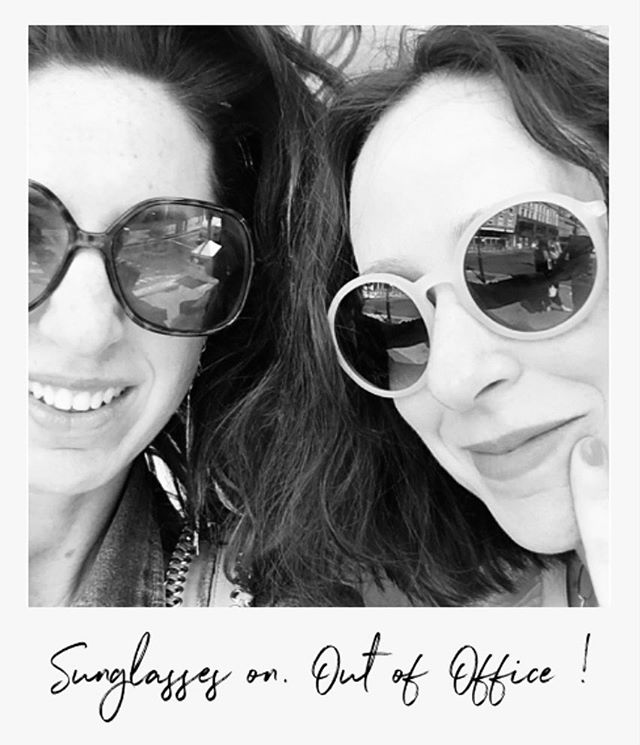 Sunglasses on. Summer-ready. . We'll be checking in to Instagram over the Summer and posting some stories of what we're up to but just going to take an out of office break on posts until September. Have a fabulous Summer all !  Julia and Tamara x