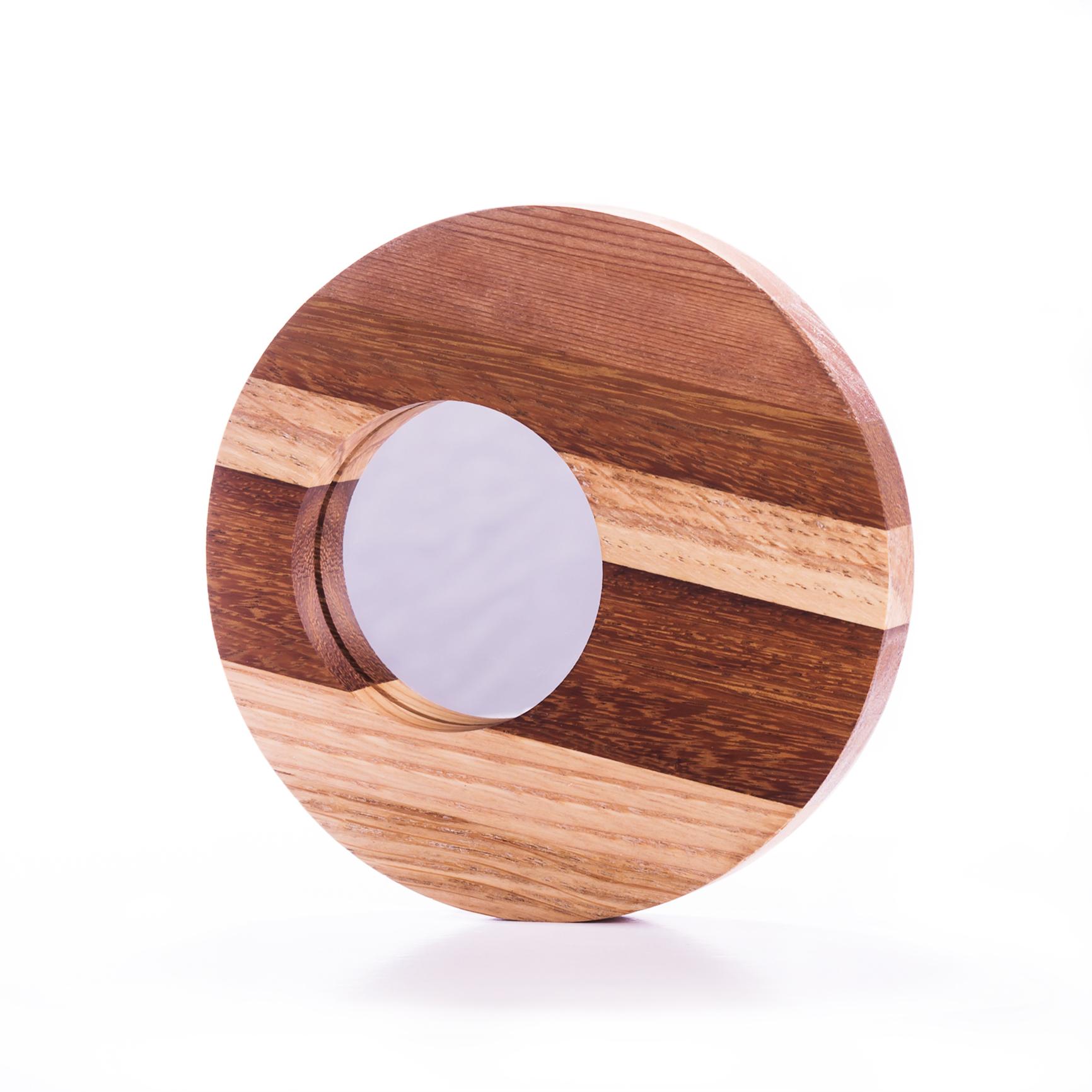 Espejo en mix de maderas natual
