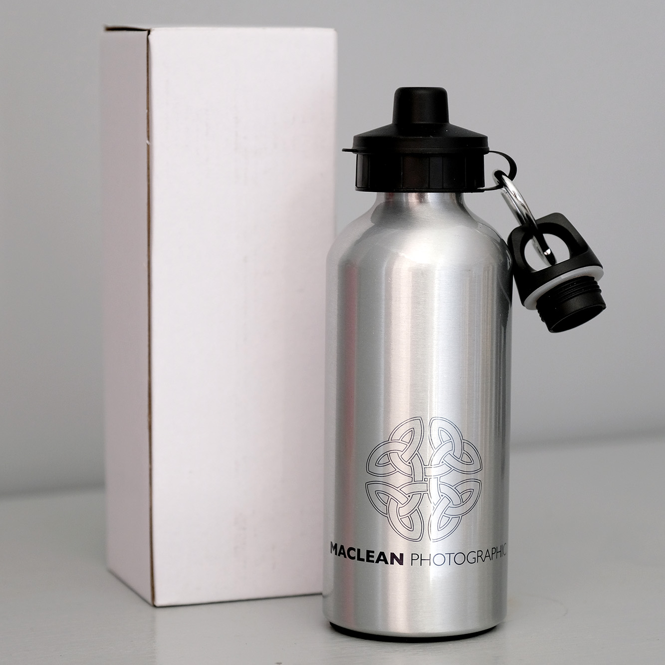 FREE REUSABLE WATER BOTTLE    The scourge of single use plastics is big news. MacLean Photographic will stop giving our guests single use plastic bottles on the one day photographic workshops, instead giving them a stainless steel water bottle as a gift to keep.