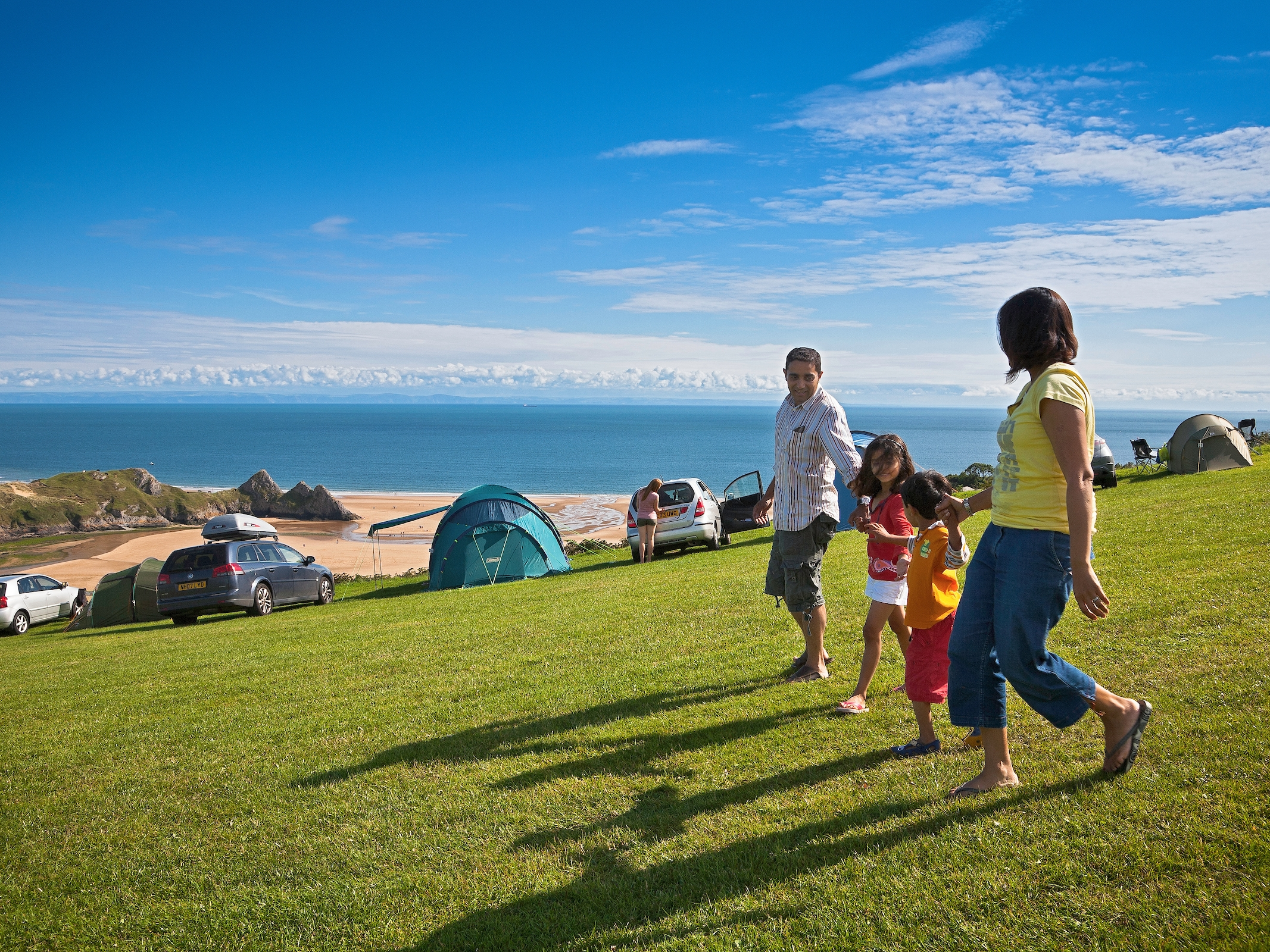 Views from Three Cliffs Campsite Photography  © Crown copyright 2017 (Visit Wales)