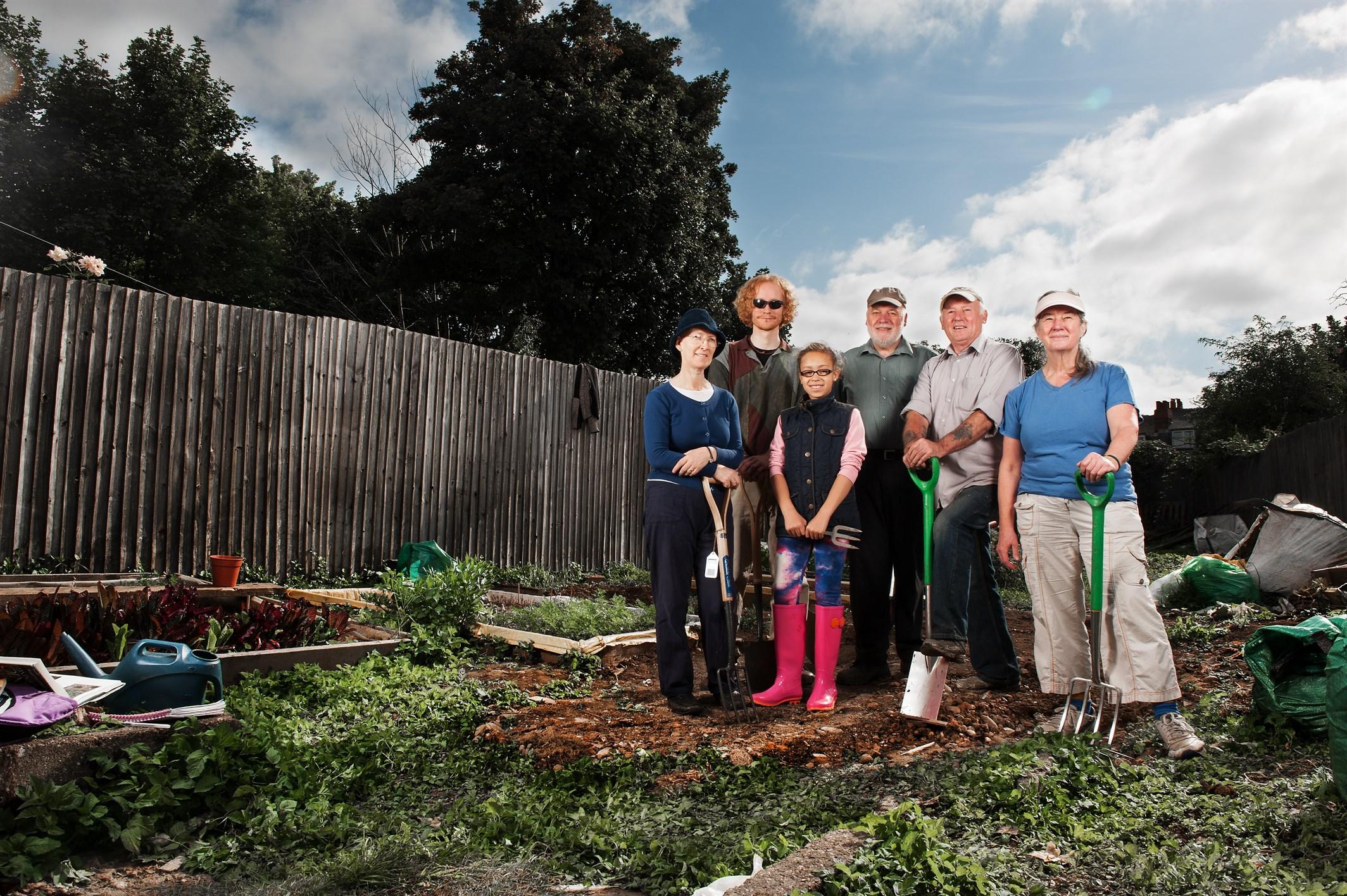 Friends through gardening
