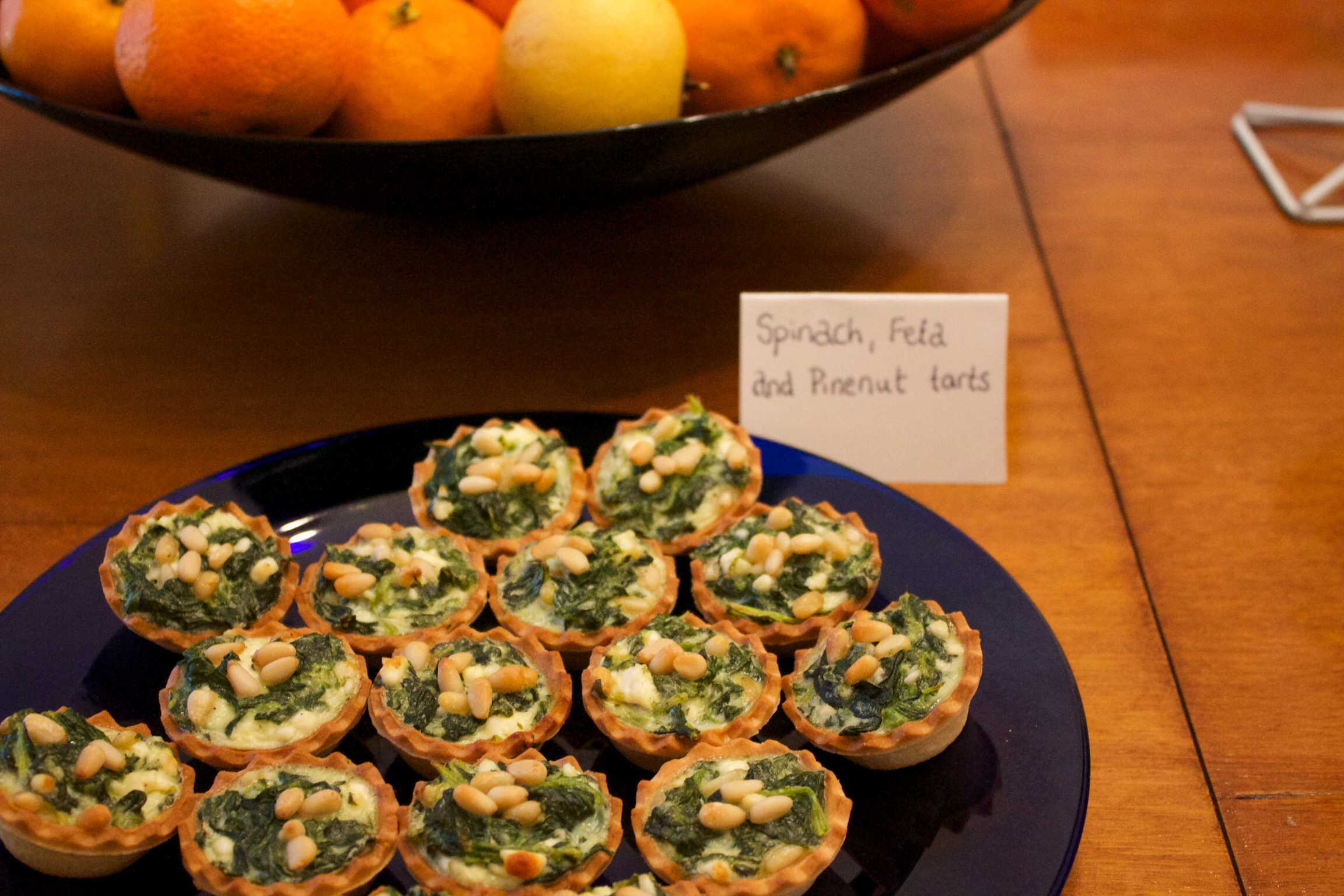 Spinach & pine nut mini-quiche; naughty or nice on your waist this Christmas? Who Dares Slims