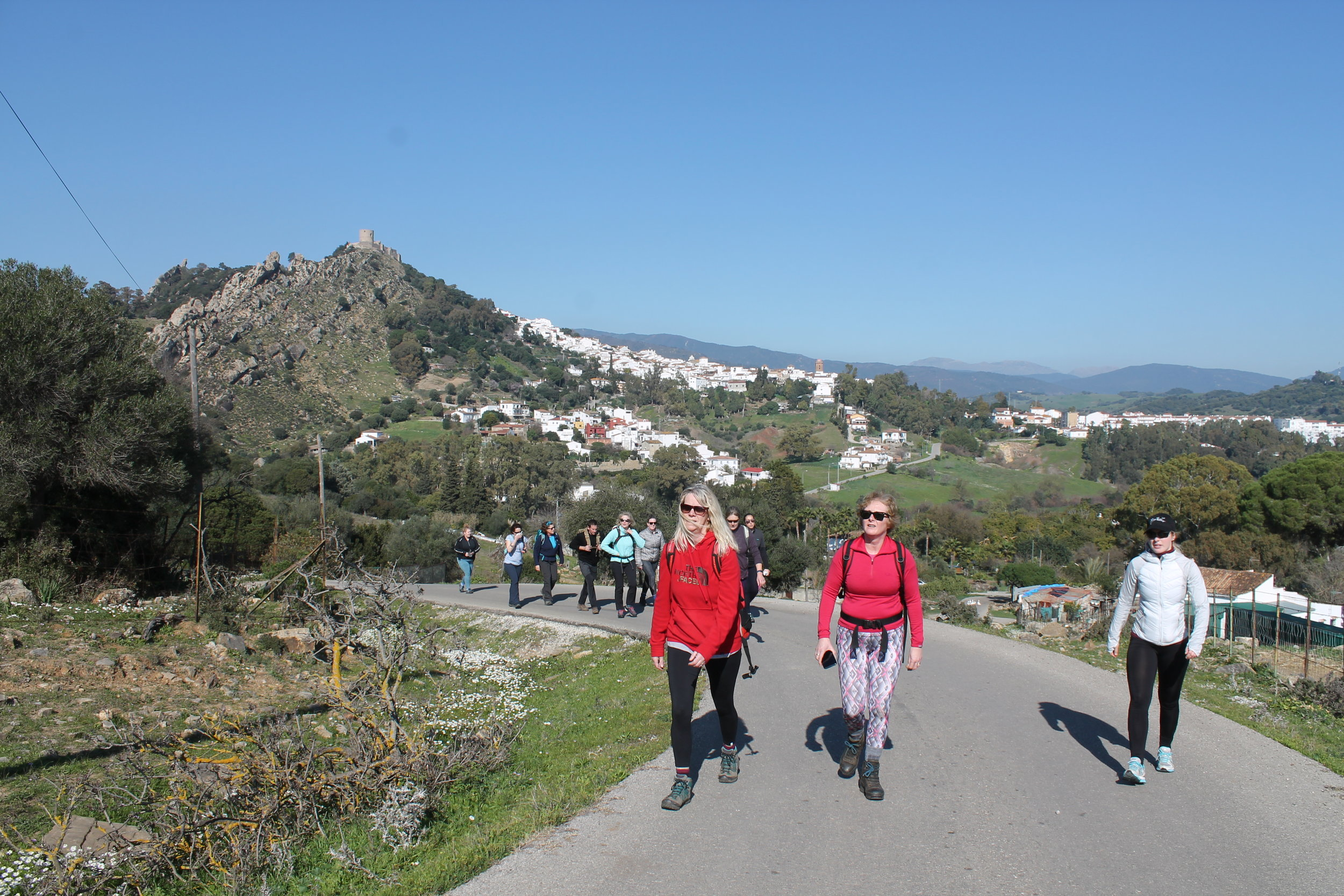 Hiking in Spain on a fitness holiday