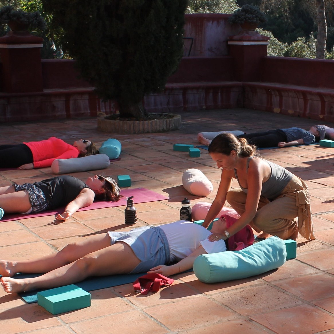 Franny - Yoga Instructor   Franny is a qualified yoga instructor and loves to teach her classes on the outdoor terrace during our boot camps in Spain. Relax and unwind with her relaxed yoga style - and she can teach you some extra deep stretches if you're more advanced.