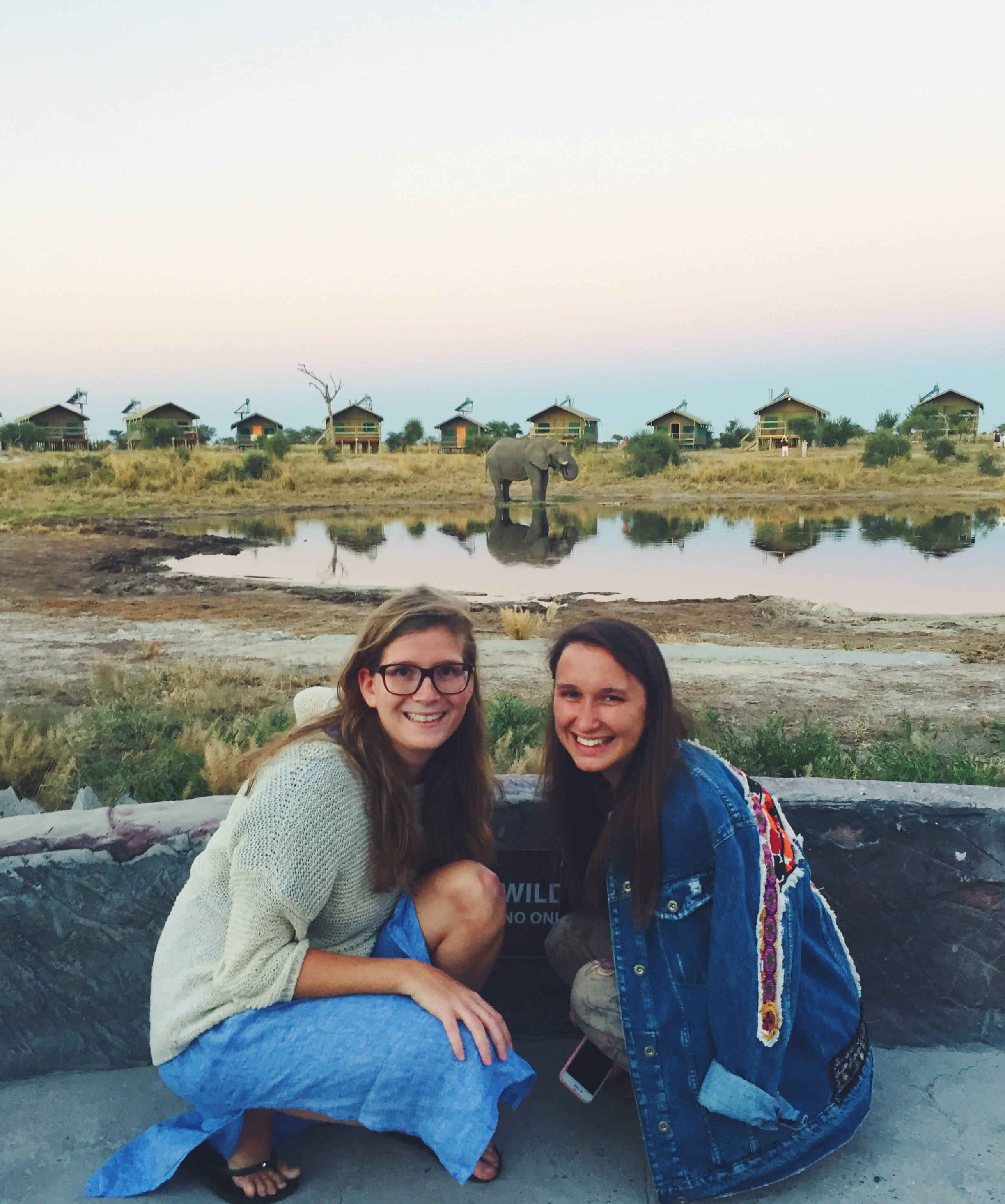 Virginia & Natascha in Botswana