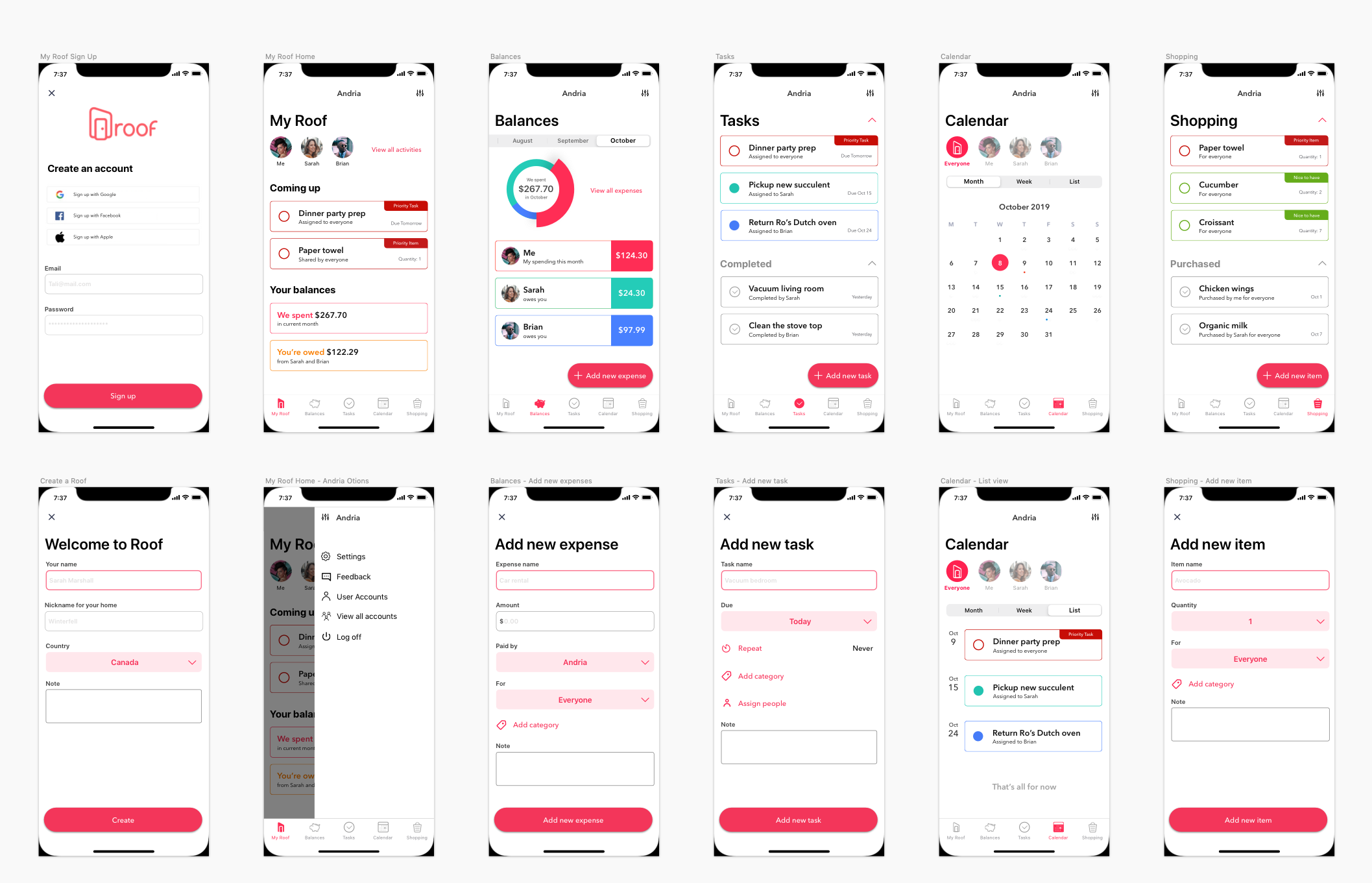 High Fidelity Wireframes in Sketch
