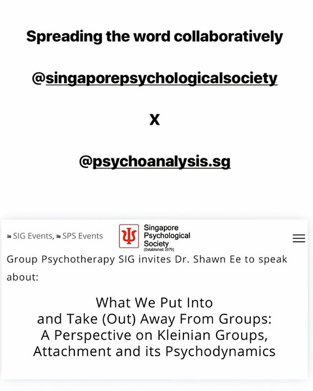 Throwback to when we spread some goodwill and knowledge with our friends at the @singaporepsychologicalsociety . @psychoanalysis.sg  http://psychoanalysis.sg