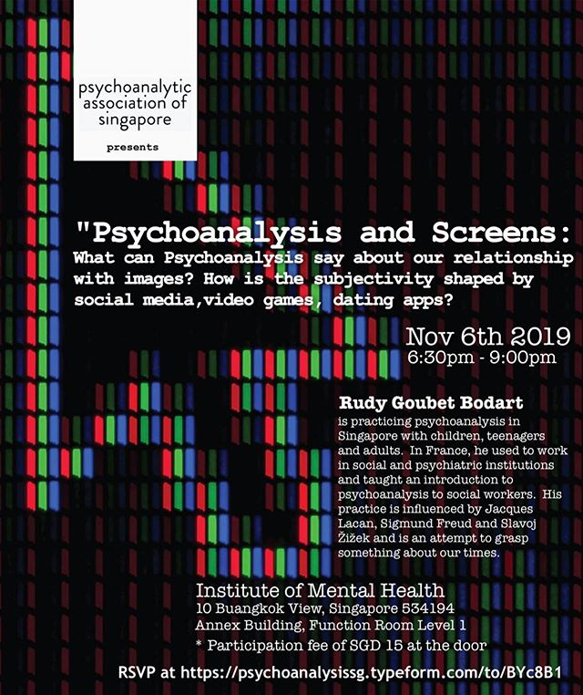 JOIN US once more on 6 November 2019, for our final symposium of 2019! . Details in the flyer @ https://www.psychoanalysis.sg/symposium-series . RSVP @ https://psychoanalysissg.typeform.com/to/BYc8B1 . Psychoanalytic Association of Singapore (PAS) @psychoanalysis.sg  https://psychoanalysis.sg