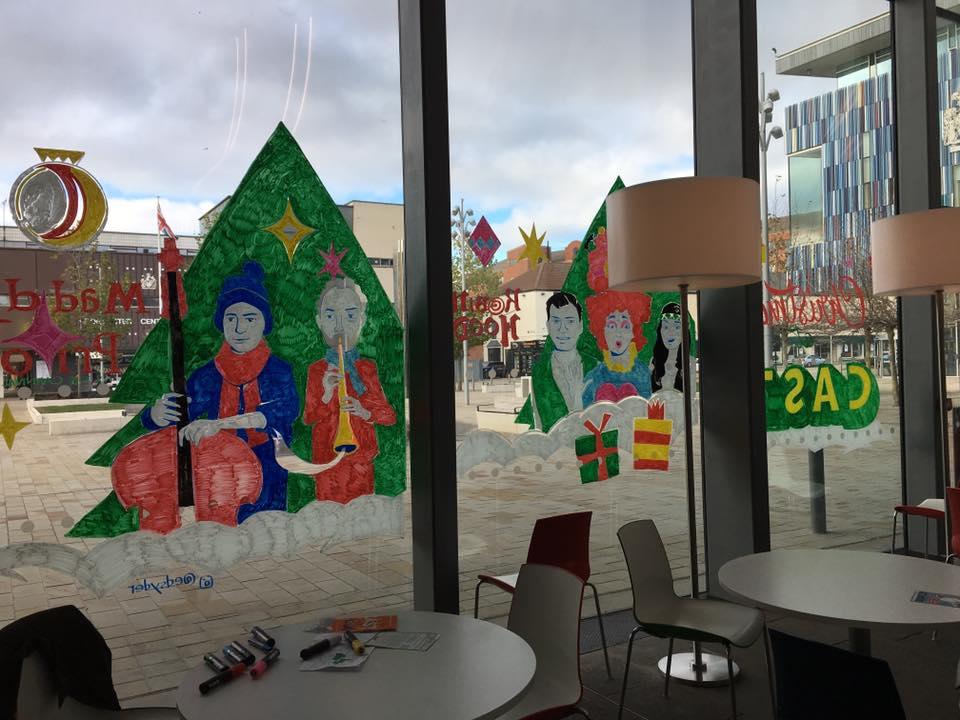 CAST Doncaster - window mural 2018