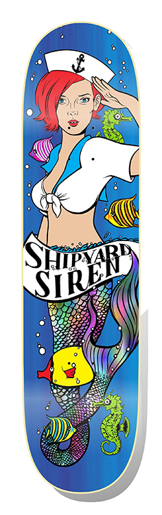 Graphic for Shipyard Siren skateboards, 2018.
