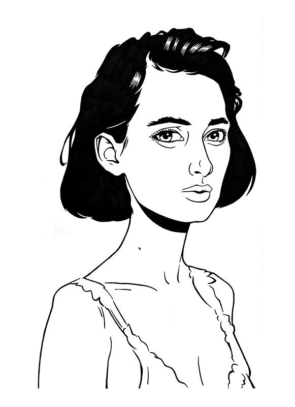 Winona Ryder - Illustration for 'Winona Forever' Zine, 2019.