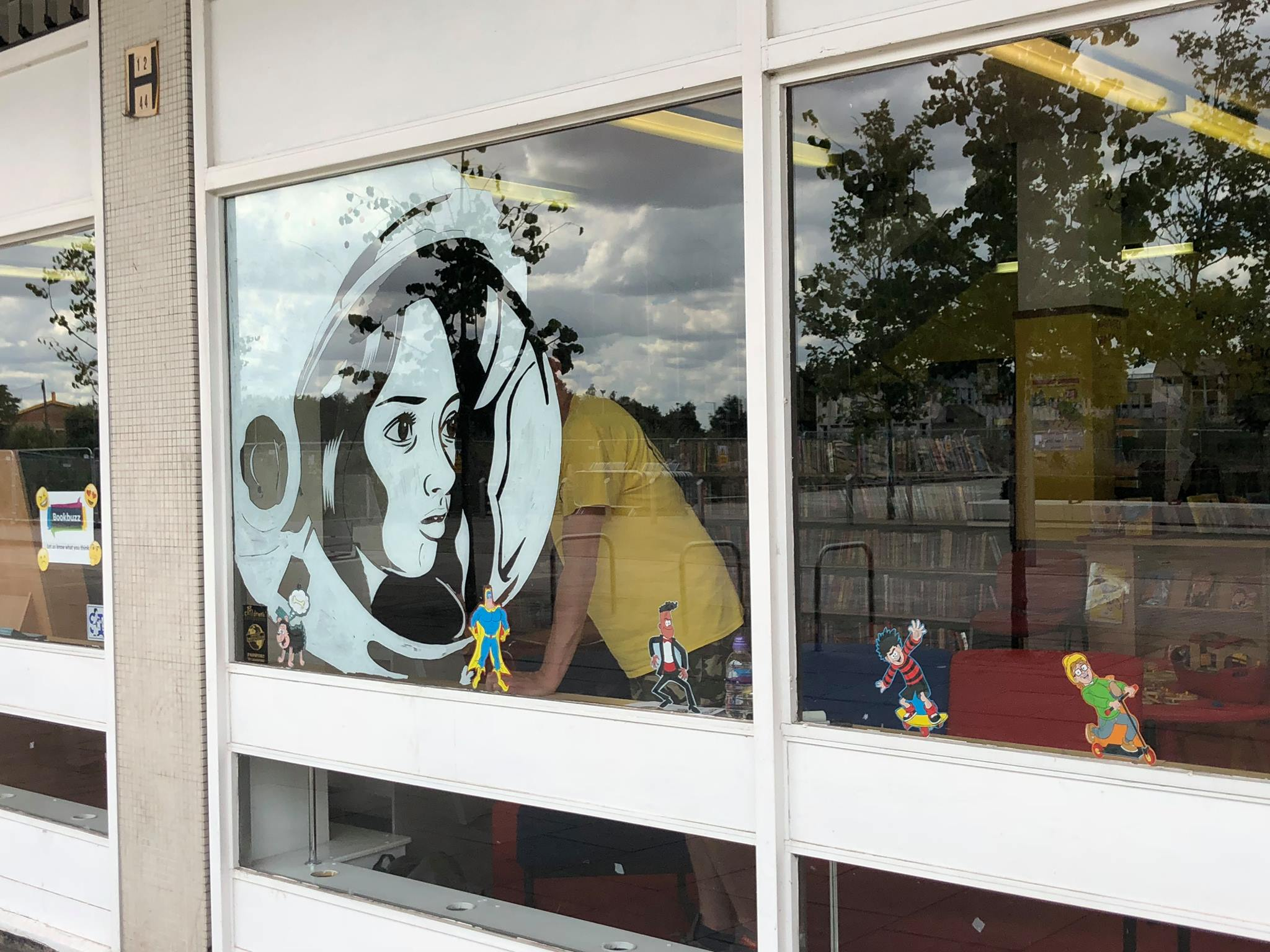 Doncaster Library Window Mural