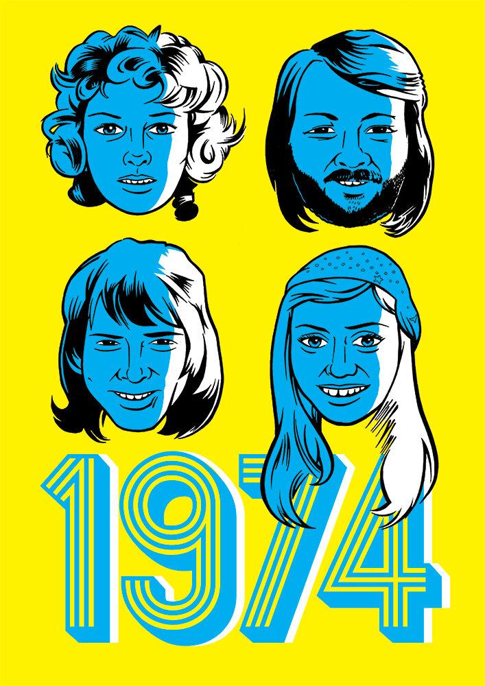 ABBA Eurovision poster.
