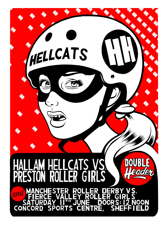 Hallam Hellcats poster.